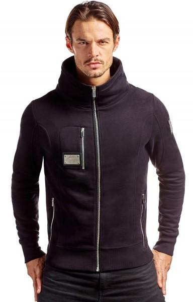 Jay Daze Slim Fit Jacke in schwarz